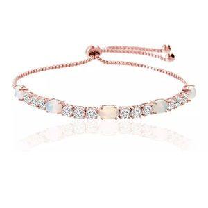 Opal bracelet, rose gold bracelet,silver bracelet